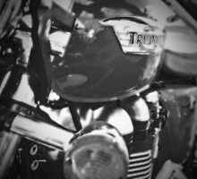 Triumph Thruxton 900 B/W by Nigel Bangert