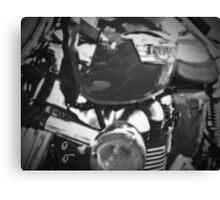 Triumph Thruxton 900 B/W Canvas Print