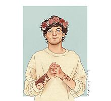 Tommo flower crown Photographic Print