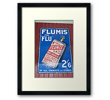 Flumis Flu Cure Framed Print