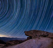 Star trails above borrego springs by Daniel Barr