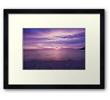 Cloudy morning in Winthrop Framed Print
