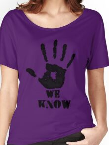 WE KNOW Women's Relaxed Fit T-Shirt