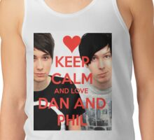 Keep calm and LOVE Dan and Phil Tank Top