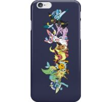 pokemon eevee espeon umbreon glaceon vaporeon jolteon flareon sylveon leafeon anime manga shirt iPhone Case/Skin