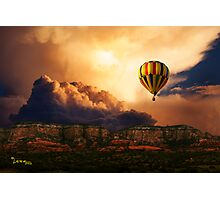 Flying Above Photographic Print