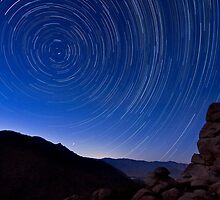 Star Trails over the Desert by Daniel Barr