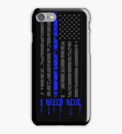 Thin Blue Line - I Bleed Blue iPhone Case/Skin