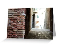 An Alley in Venice  Greeting Card