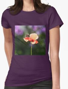 Bumble bee and poppy Womens Fitted T-Shirt
