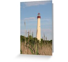 Cape May Lighthouse through the Reeds Greeting Card