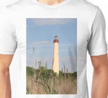 Cape May Lighthouse through the Reeds Unisex T-Shirt
