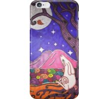 Hare and moon iPhone Case/Skin