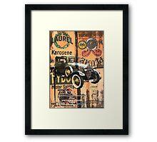 Vintage automobile montage. Framed Print