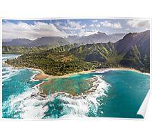 Tunnels Beach Kauai Poster