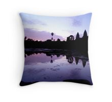 angkor wat temples Throw Pillow
