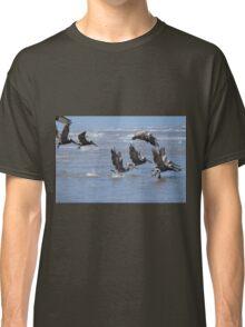 Brown Pelicans Take Flight 2 Classic T-Shirt