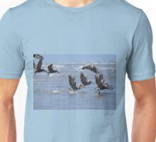 Brown Pelicans Take Flight 2 Unisex T-Shirt