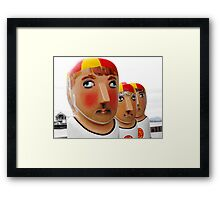 Life Saver Bollards Framed Print