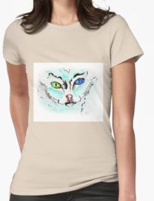 Loki Cat - Animal Art by Valentina Miletic Womens Fitted T-Shirt