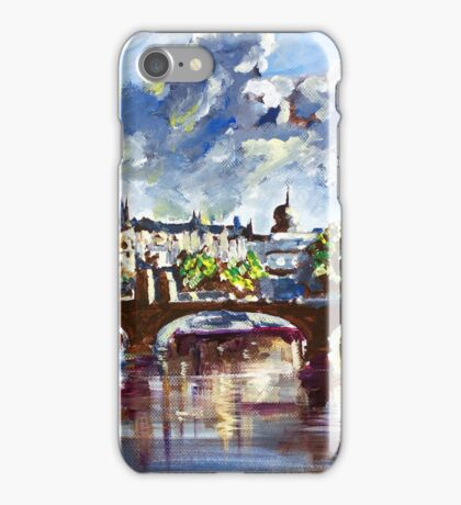 Prague in springtime iPhone Case/Skin