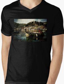 Portofino Harbor Mens V-Neck T-Shirt