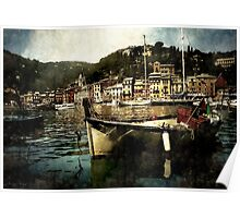 Portofino Harbor Poster