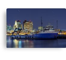 Ship docked in East Boston Canvas Print