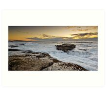 Golden Reef - Dawn Seascape, Long Reef @ Collaroy Art Print