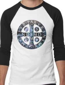 Saint Benedict Medal Men's Baseball ¾ T-Shirt