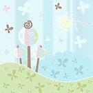 Floral creative background by Olga Altunina