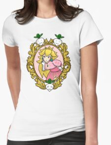 Princess Peach Melee Taunt Design Womens Fitted T-Shirt