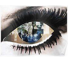 Eye with New York City Reflection Poster
