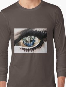 Eye with New York City Reflection Long Sleeve T-Shirt