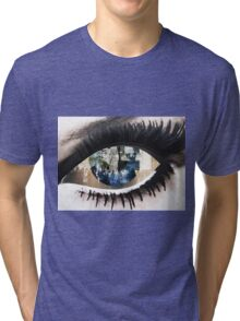 Eye with New York City Reflection Tri-blend T-Shirt