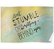 Don't Stumble Poster