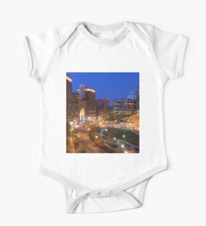 Blue hour in Boston One Piece - Short Sleeve