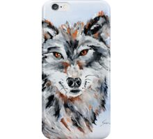 She Wolf - Animal Art by Valentina Miletic iPhone Case/Skin