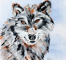She Wolf - Animal Art by Valentina Miletic by Valentina Miletic