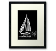 SAILS AND BROWNIE Framed Print