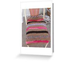 Crochet Cushion Chair Cover Greeting Card