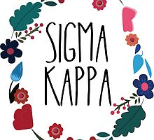 Sigma Kappa Flower Wreath by Margaret Young