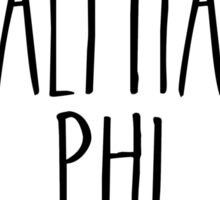 Alpha Phi Flower Wreath Sticker