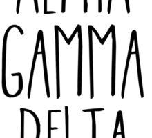 Alpha Gamma Delta Flower Wreath Sticker