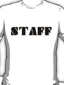 STAFF - Black T-Shirt