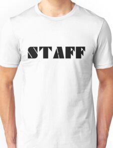 STAFF - Black Unisex T-Shirt