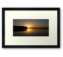 Mueller River Sunrise Framed Print