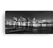 Boston skyline in black and white Canvas Print