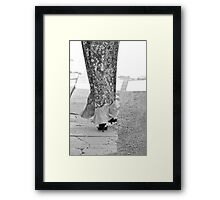 Walking Away Framed Print
