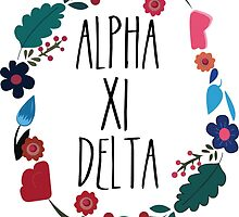 Alpha Xi Delta Flower Wreath by Margaret Young